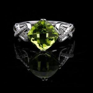 peridot verde-verde peridoto-anillo de piedra-pedra peridoto